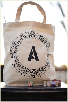 diy doily tote...quite easy