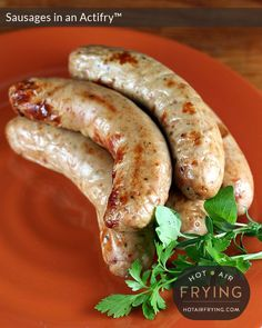 Sausages are great cooked in the pan of an Actifry™, with the paddle in. (They are also great in a basket-type air fryer.)    Now, for the discussion