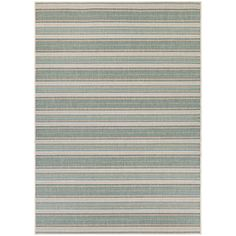 Couristan Monaco Marbella Blue Mist and Ivory Indoor/Outdoor Area Rug