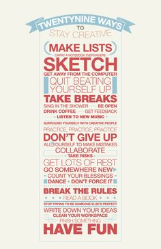 29 Ways to Stay Creative   Yellowtrace.