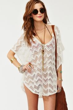 bathing suit cover up..that I'd wear as a top with jeans or shorts. Ha