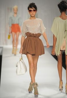 Cute paper bag skirt.