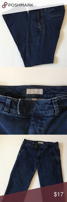 Banana Republic trouser jeans Good condition! Stretchy thick fabric!  Banana Republic Jeans Flare & Wide Leg