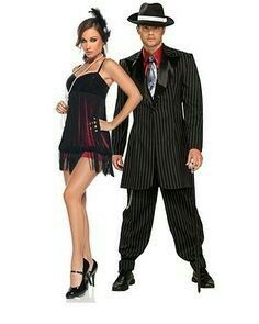 womens sexy flapper costume womens couples halloween costumes flapper and gangster