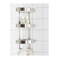 GRUNDTAL Hörnhylla, rostfritt stål - 26x58 cm - IKEA