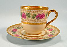 Elegant Hutchenreuther Black Knight Demi Cup and Saucer