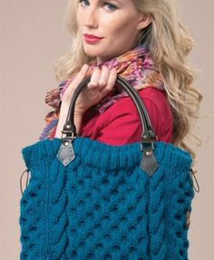 Cabled tote bag