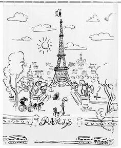 Creative Bath Paris Day Peva Shower Curtain - Shower Curtains & Accessories - Bed & Bath - Macy's