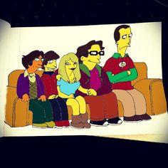 """The Bada Bang Theory! #Homer #Simpson #Raj #Howard #Penny #Leonard #Sheldon #TheBigBangTheory #TBBT #Homerization"""