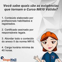 Você sabe quais são as exigências para tornar um Curso NR10 Válido? Veja tudo aqui: http://www.cursonr10.com/curso-nr10-valido