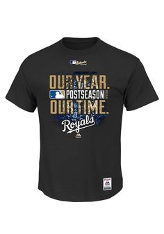 Kansas City Royals Black Mens Big and Tall Our Year Our Time Big and Tall Tee