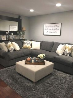 10 Admirable Hacks: Living Room Remodel Before And After Foyers living room remodel with fireplace fire places.Living Room Remodel On A Budget Bedrooms living room remodel with fireplace fire places.Small Living Room Remodel With Fireplace. Living Room Ideas 2019, Living Room Grey, Small Living Rooms, Home And Living, Living Room Designs, Simple Living, Modern Living, Living Room With Sectional, Living Area