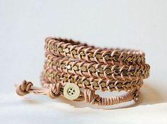 Tutorial fai da te: Realizzare un braccialetto intrecciato di pelle via DaWanda.com