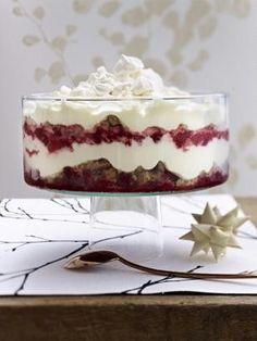 Das Rezept für Festtags-Trifle mit Himbeeren und weitere kostenlose Rezepte auf LECKER.de