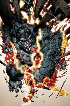 The Flash vs Gorilla Grodd Marvel Comics, Flash Comics, Dc Comics Art, Marvel Dc, Battlestar Galactica, Joe Madureira, Deadpool, Dc Universe, Batman