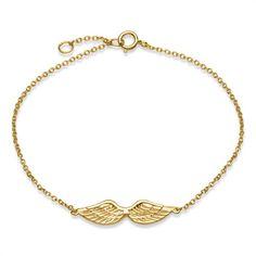 Armband 925er Silber vergoldet Flügelanhänger SB0205 http://www.thejewellershop.com/ #armband #bracelet #silber #vergoldet