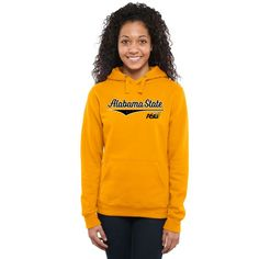 Alabama State Hornets Women's American Classic Pullover Hoodie - Gold
