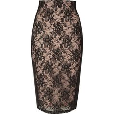 Jane Norman Sequin panel pencil skirt ($18) ❤ liked on Polyvore featuring skirts, black, clearance, black pencil skirt, black lace skirt, high waisted skirts, lace midi skirt and black skirt