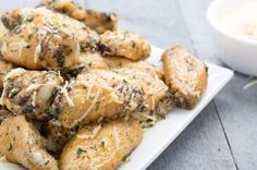 Slow-Cooker Parmesan-Garlic Chicken Wings - Delish.com....OMG these are so wonderful and easy. ..