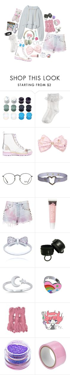 """""""[ mood ]"""" by spxceboi ❤ liked on Polyvore featuring Pull&Bear, Monsoon, Sophia Webster, Ray-Ban, The Ragged Priest, KiraKira, Cotton Candy and Medusa's Makeup"""