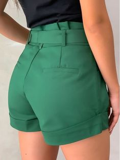 Belted Shorts Outfits, Short Outfits, Short Dresses, Blazer Fashion, Fashion Outfits, Outfit Elegantes, Cute Dresses For Party, Chor, Sexy Shorts