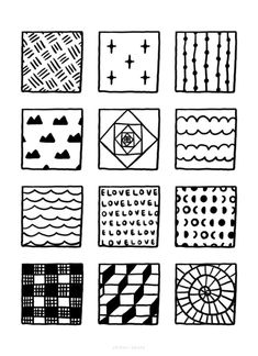 100+ Fun, Easy Patterns to Draw Mini Drawings, Art Drawings Sketches, Zen Doodle, Doodle Art, Easy Patterns To Draw, Doodle Pages, 100 Fun, Basic Shapes, Pattern Drawing