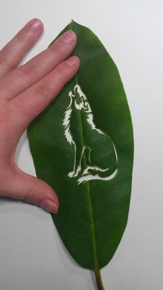 Wolf Leaf Carving