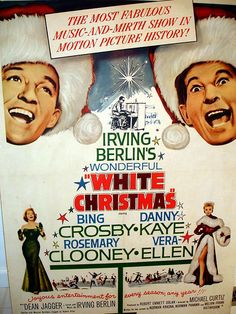 First Christmas Movie of the Season that I watch :) : White Christmas : Bing Crosby, Rosemary Clooney, Danny Kaye, Vera Ellen : 1954 White Christmas Movie, Best Christmas Movies, Christmas Poster, Christmas Time, Holiday Movies, Holiday Time, Old Movies, Vintage Movies, Great Movies