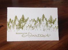 Weihnachtskarte Tannenwald, Stempel Alexandra Renke