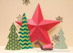 @Nina Gonzalez Gonzalez Yang shows you how to create a #papercraftedchristmas with stacks from @DCWV Inc. Inc. Inc.