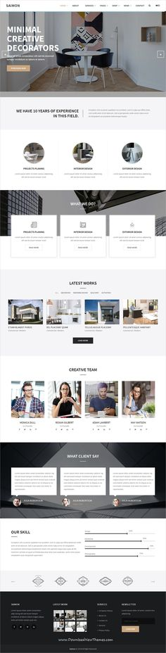 Saimon is clean and modern design 3in1 responsive bootstrap HTML template for #architecture and #interior design agency #website to live preview & download click on Visit