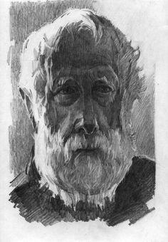 "Saatchi Art Artist Anastasia Yaroshevich; Drawing, ""Old Man Jerry"" #art"