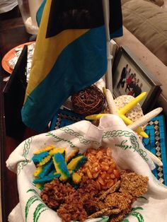 Bahamian treats at a Pre Independence Soirée...proud to be Bahamian