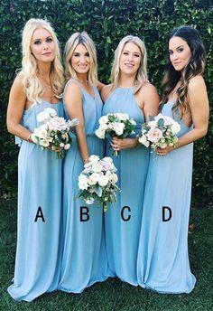 2017 bridesmaid dresses,long bridesmaid dresses,blue bridesmaid dresses,chiffon bridesmaid dresses