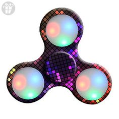 LED Light Fidget Hand Spinner Stress Reducer Cool Painted Finger Toy EDC Fast Shipping Focus Gyro ADD / ADHD / Anxiety and Autism Adult Children MOONHOUSE (B) - Fidget spinner (*Amazon Partner-Link)