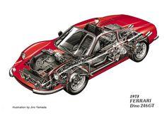 Ferrari Dino 246GT cutaway drgn