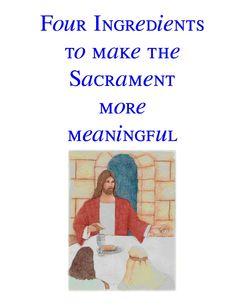 Sacrament Meeting and the Sacrament FHE   Scribd