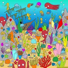 Unartista esconde ensus ilustraciones objetos tan simpáticos que esimposible noencontrarlos Find Santa, Bottom Of The Ocean, Wheres Waldo, Picture Puzzles, Cute Illustration, Cat Memes, Polar Bear, Reindeer, Illustrator
