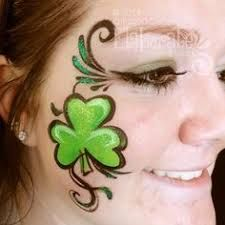 Image result for st. patrick's day face painting