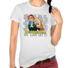 Spina Bifida Rosie WE CAN DO IT T Shirts by www.giftsforawareness.com #spinabifida #giftsforawareness