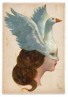 L'oie, a signed art print by Gérard Dubois Art Inspo, Potnia Theron, Art Vintage, Ouvrages D'art, Art Et Illustration, Art Graphique, Psychedelic Art, Aesthetic Art, Art Reference