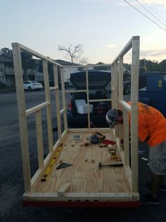 DIY Micro-Tiny House Camper on Harbor Freight Trailer: 17 Steps (with Pictures) Small Truck Camper, Build A Camper, Tiny Camper, Small Campers, Camping Trailer Diy, Diy Camper Trailer, Trailer Build, Box Trailer, Tiny Trailers