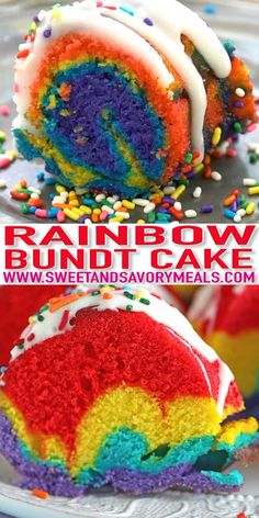 Rainbow Bundt Cake is very easy and fun to make the gorgeous colors make the cake festive and perfect for a special occasion. Rainbow Bundt Cake is very easy and fun to make the gorgeous colors make the cake festive and perfect for a special occasion. Rainbow Desserts, Rainbow Food, Köstliche Desserts, Delicious Desserts, Rainbow Sweets, Rainbow Pasta, Food Cakes, Cupcake Cakes, Sweet Recipes