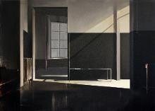 Simon Adjiashvili. Untitled, acrylic on canvas, 70 x 50 cm
