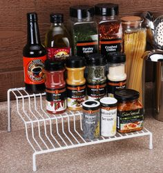 SUNBEAM 3 STEP PANTRY SHELF ORGANIZER- (I really would like to find this- it's perfect for what I need!).