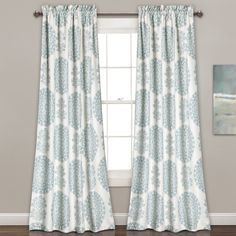 Triangle Home Fashions Evelyn Medallion Room Darkening Curtain Set - 16T000814