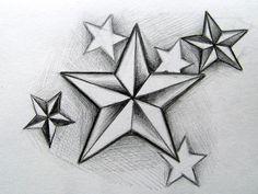 Star And Dice Tattoo Designs star tattoo images & designs Star Tattoo Designs, Tattoo Design Drawings, Tattoo Sleeve Designs, Star Designs, Tattoo Sketches, Sleeve Tattoos, 3d Star Tattoo, Neck Tattoos, Rose Heart Tattoo