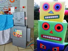 robot birthday party 17 Fun Robot Party Ideas for 2019 Robot Party Costume, Costume Birthday Parties, Sleepover Birthday Parties, 4th Birthday, Birthday Party Themes, Birthday Ideas, Robot Theme, Party Activities, Party Time