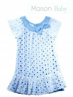 Vestido laise algodão - Maison Baby - MaisonBaby. Girl's dress #maisonbaby…