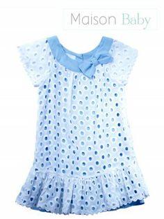 Vestido laise algodão - Maison Baby - MaisonBaby. Girl's dress #maisonbaby #vestidoinfantil #vestidodelaise #laisedress #girlsdress